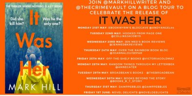 It Was Her blog tour poster